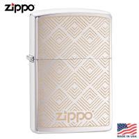 美系Zippo 箭紋幾何-雷雕拉絲鍍鉻防風打火機#29921