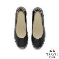 TRAVEL FOX(女)沃門的 女性專屬輕量工作楔型鞋 - 偉大黑