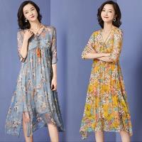 韓國K.W. (預購) 獨賣款夏日漫遊短袖洋裝