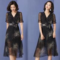 韓國K.W. (預購) 機能夏日焦點短袖洋裝