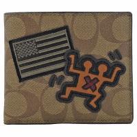 COACH 66591 Keith Haring 聯名限量八卡短夾.咖