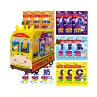【小兒利撒爾】Quti軟糖 長頸鹿校車禮盒 15包組(葉黃素.DHA.鈣.益生菌.維他命C)