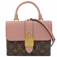 Louis Vuitton LV M44080 Locky BB 經典花紋大鎖頭手提兩用包.玫瑰粉 現貨