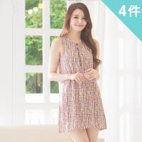 iima 繽紛亮彩嫘縈沁涼背心洋裝4件組(現貨+預購)-型網
