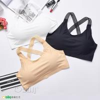 Osun 冰絲無痕透氣加大尺碼交叉肩帶修身小可愛內衣 2入組(附胸墊) CE176-824