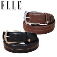 ELLE HOMME簡約時尚針釦式休閒皮帶(黑色/咖啡色)