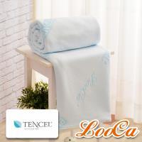 LooCa 水漾天絲薄3-6cm床墊布套-單大3.5尺