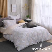HOYACASA 特大60支抗菌天絲兩用被床包四件組+贈可水洗乳膠枕套一對(顏色隨機)-型(網)