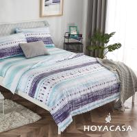 HOYACASA光燦 親膚極潤天絲涼被一入+贈雙人床包枕套組一入-型(網)