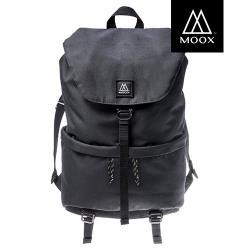 【穆克斯MOOX】 A6BB DELTA極簡防潑水後背包-雙層筆電包(深夜黑)