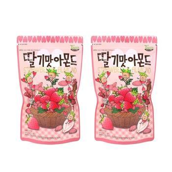 Toms Gilim 草莓奶茶杏仁果210g 分享包(2入組C-001-03)