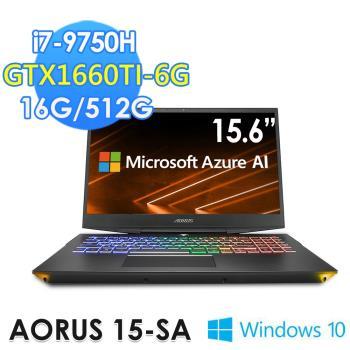 GIGABYTE 技嘉 AORUS 15-SA 15.6吋(i7-9750H/16G/512G/GTX1660Ti-6G/WIN10)