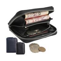 【玩皮工坊】頭層牛皮多隔層拉鍊皮夾零錢包卡片夾卡片包男夾女夾LH283