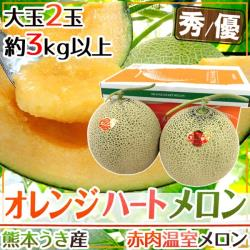 果物樂園-日本原裝熊本縣溫室哈蜜瓜(2顆/每顆約1.9kg±10%)