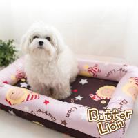 奶油獅-MIT-搖滾星星寵物記憶床墊中40x60cm(10kg以下適用)-淡紫咖啡