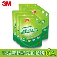 3M 長效型天然酵素洗衣精1600mlx6包-沐浴清新