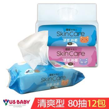 優生 清爽型濕紙巾80抽x12包