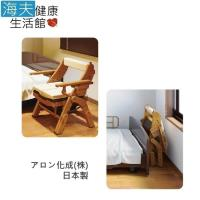 【海夫健康生活館】日華 安壽 便盆椅 折疊式木製馬桶椅 日本製 標準硬式座墊(T0945)