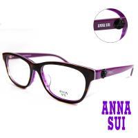 【ANNA SUI 安娜蘇】日系高雅薔薇造型光學眼鏡-琥珀/紫(AS613-103)