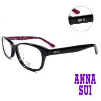 【ANNA SUI 安娜蘇】紅浪漫薔薇花園造型眼鏡-黑色(AS616-001)