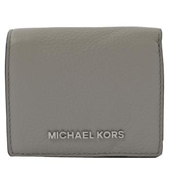 MICHAEL KORS Jet Set Travel 扣式零錢短夾.珍珠灰