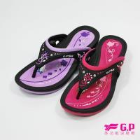 G.P 優雅休閒舒適夾腳拖鞋G7533W-黑桃色/紫色(SIZE:35-39 共二色)