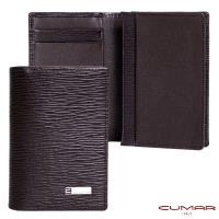 【CUMAR 】義大利牛皮-高容量型-名片夾-咖啡色