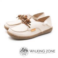 WALKING ZONE 皮革兩穿休閒鞋 女鞋 - 米白(另有紅/藍)