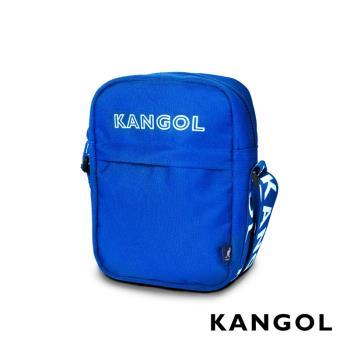 KANGOL LIBERTY系列 韓版潮流LOGO背帶小型側背包-藍 KG1194