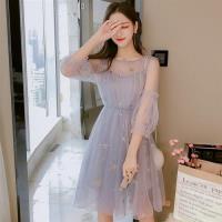 【Dorri】韓版氣質星星網紗洋裝S-XL(共三色)