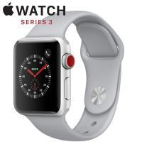 Apple Watch Series 3 42mm銀色鋁金屬錶殼搭配薄霧灰色運動型錶帶 GPS+Cellular版
