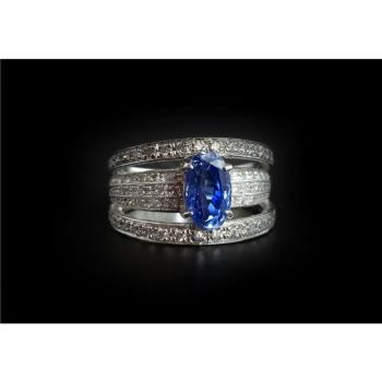 【Maven 行家珠寶】GIA天然無燒藍寶石2.11克拉+天然鑽石0.65克拉白金戒指