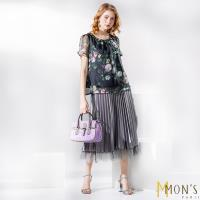 MONS法式浪漫雙面穿優雅蕾絲紗裙