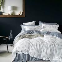 BEDDING-100%天絲萊賽爾-特大6x7薄床包+鋪棉兩用被套四件組-晨暮間-灰