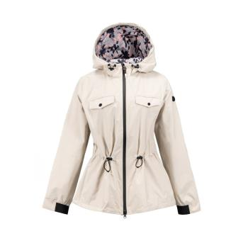 Timberland女款米色顯瘦防水連帽派克大衣B2109F48
