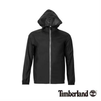 Timberland 男款黑色輕薄款防水可收納連帽外套(A1OKH001)