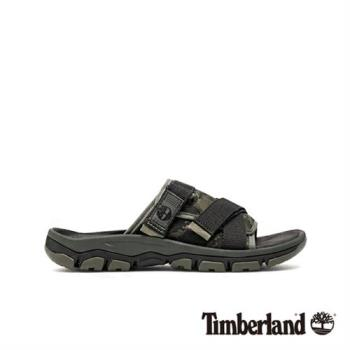 Timberland 男款深綠色迷彩拖鞋(A1ZSFP01)