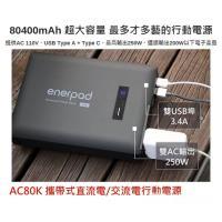enerpad AC80K 攜帶式直流電 / 交流電 相機 閃燈用專業移動電源 行動電源 空拍機最佳夥伴