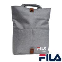 【FILA】兩段式加大空間手提肩背兩用包-銀白色