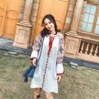 【維拉森林】特色民族風圖騰洋裝S-2XL(共二色)