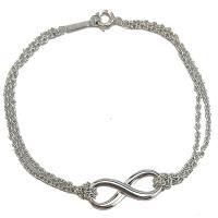 TIFFANY 925純銀 Infinity 無限墜飾雙鍊式手鍊