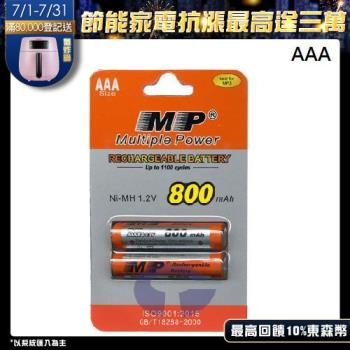 MP 4號AAA鎳氫充電電池 適用數位式無線電話 (相容於HHR-55AAAB)