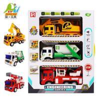 Playful Toys 頑玩具 3款慣性工程車 1601 (工程車 消防車 雲梯車 垃圾車 挖土機 頑玩具)
