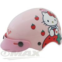 KITTY草莓兒童安全帽-粉紅色(贈短鏡片)