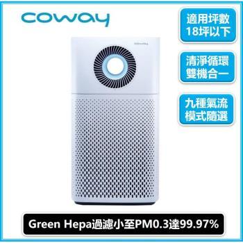 下單再9折↘韓國Coway 18坪 綠淨力噴射循環空氣清淨機AP-1516D