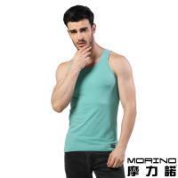 男內衣 設計師聯名-經典素色運動背心 綠色 MORINOxLUCAS