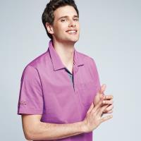 Spar吸濕排汗男版短POLO衫S198212紫紅色