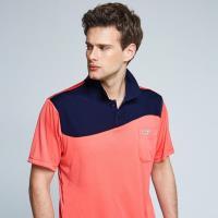 Londa Polo雙細條紋布男版短POLO衫P198208橘紅色