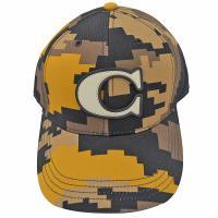 COACH 68794 經典C LOGO 迷彩棉質棒球帽.卡其