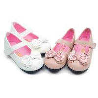 【 cher美鞋】MIT晶亮蝴蝶美結公主童鞋-花童 白色/粉色 26-30碼 083073102-04